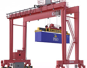 RTG Gantry Crane Kalmar 3D