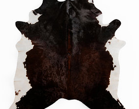 Brown And White Cowhide Rug 3D