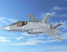 3D Lockheed Martin F35A Lightning II aircraft