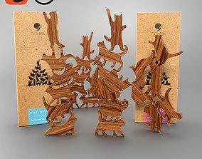 3D model COMMA Cat Pile Plus wooden puzzle