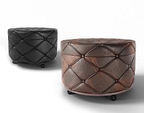 3D PBR Leather pouf