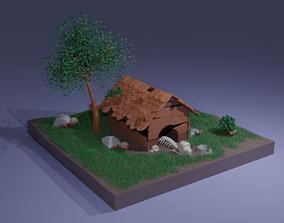 Dog House 3D asset game-ready