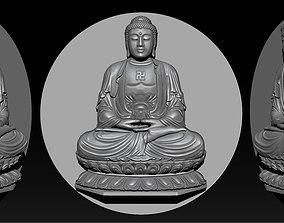 Pendant Buddha - STL- OBJ and ZTL 3D printable model