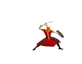 Ottoman Platfrom Game Character 3D asset