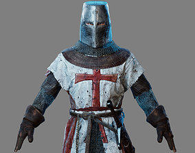 Crusader Knight 3D low-poly