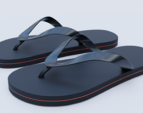 well modeled flip flops or sandals 3D