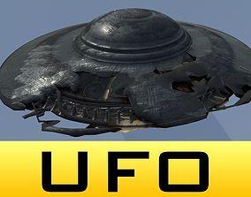Damaged UFO Plate 3D model realtime