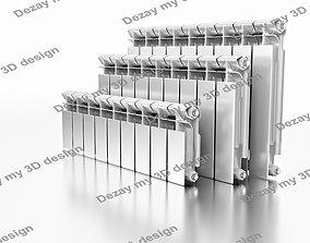 Set of central heating radiators 3D model