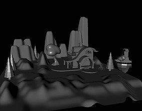 fantacy world 3D print model