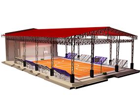 3D basketball gym