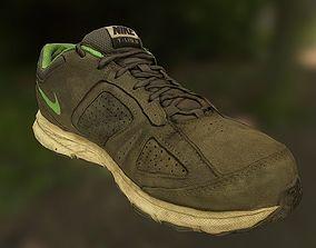 VR / AR ready Worn Nike shoe low poly 3D model