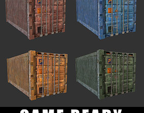Cargo Container 3D model low-poly