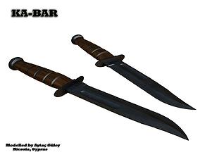 VR / AR ready KABAR Knife 3D Model