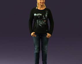 Woman in black top paris 0726 3D