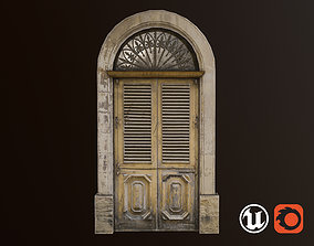 Medieval Door 1 PBR 3D asset