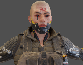 3D asset realtime Sci-fi Soldier
