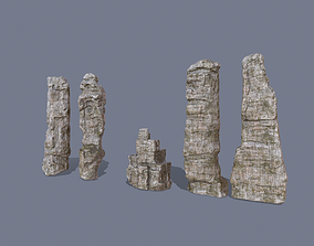 big rocks 3D asset