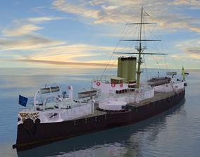 Battleship Riachuelo 3D asset
