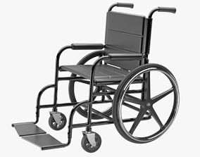 3D model wheel Wheelchair