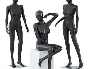 Three female mannequins 58 3D model