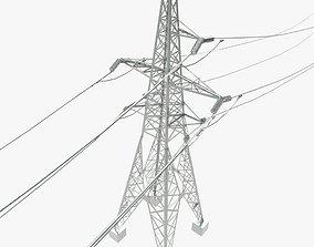 3D Power line 110 kV