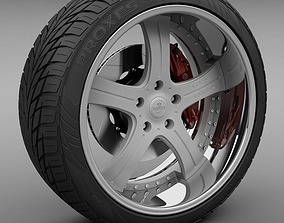 Savini Forged SV-3S Wheel and Tire 3D