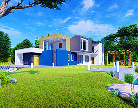 3D Lake Side House engineering