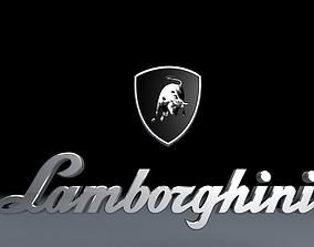 Lamborghini logo 3D model car
