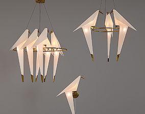 3D Origami bird light