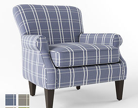 3D Crate and Barrel Elyse chair