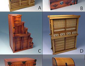 samurai Echise Bruno - 6 Japanese Furniture Pack 3D