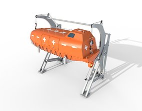 Conventional lifeboats 3D model