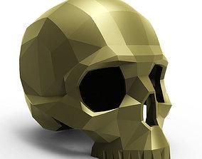 Faceted skull 3D print model