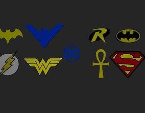 3D printable model batgirl Dc Heroes Logo
