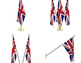 Great Britain Flag Pack 3D blender