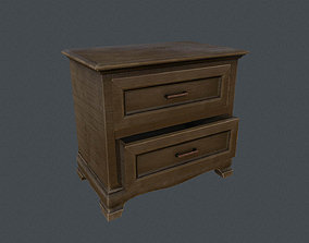 3D model VR / AR ready PBR Bedside table