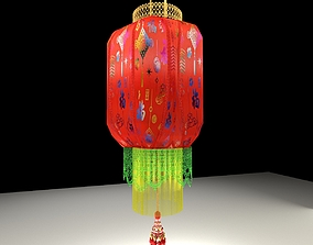3D model palace Chinese Red Lantern