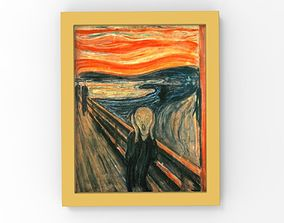 The Scream painting by Edvard Munch for 3D printing