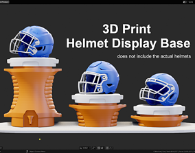3D print model Drink Cooler Helmet Display Base