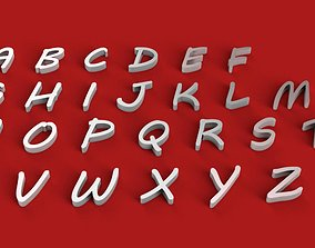 MVBOLI font uppercase and lowercase 3D letters STL file
