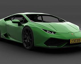 3D model Lamborghini Huracan photoreal