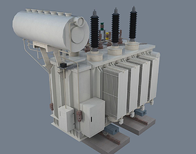 3D asset Electrical Transformer type 1