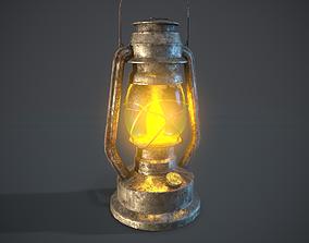 3D asset game-ready Old Kerosene Lamp