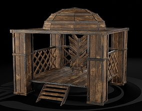 AAA Medieval Wooden Throne 01 R 3D model