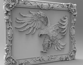 Eagle in Frame 3D STL Model file for CNC Router Milling