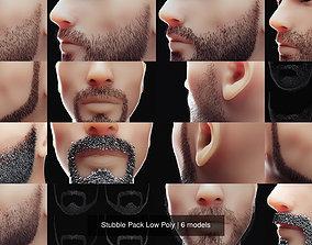 Stubble Pack Low Poly 3D