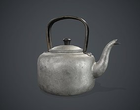 Old Aluminium Kettle PBR Game Ready 3D model