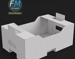 3D model Cardboard crate 1