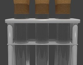 3D model Free PBR Test tubes in rack