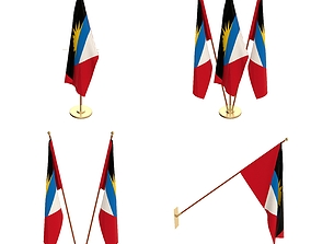 3D Antigua and Barbuda Flag Pack